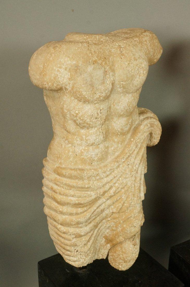 Pr Repro Cast Figural Sculptures. Male torsos. On - 2