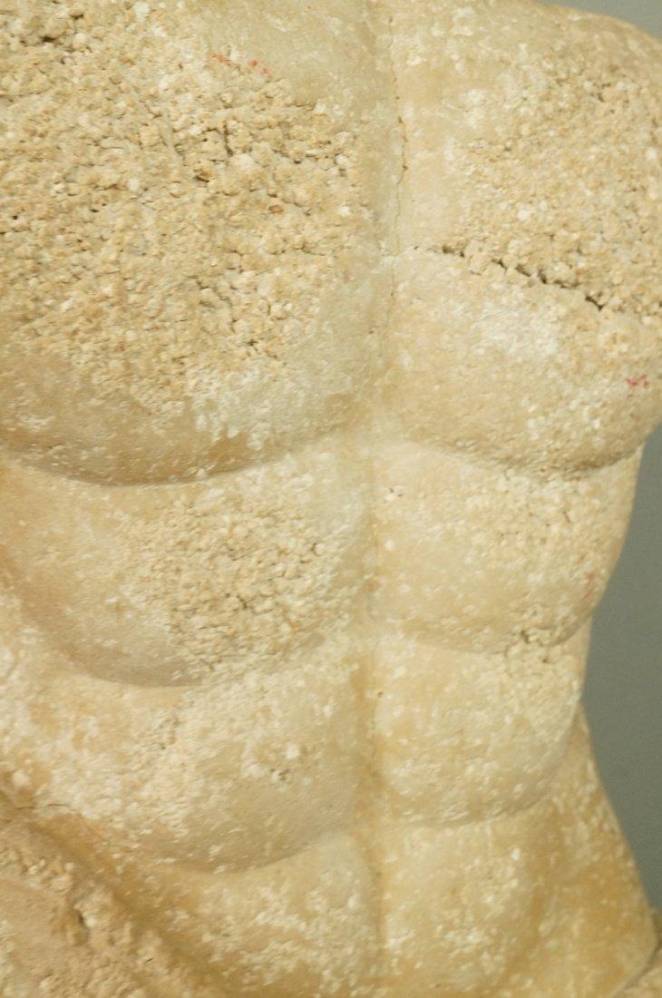 Pr Repro Cast Figural Sculptures. Male torsos. On - 8