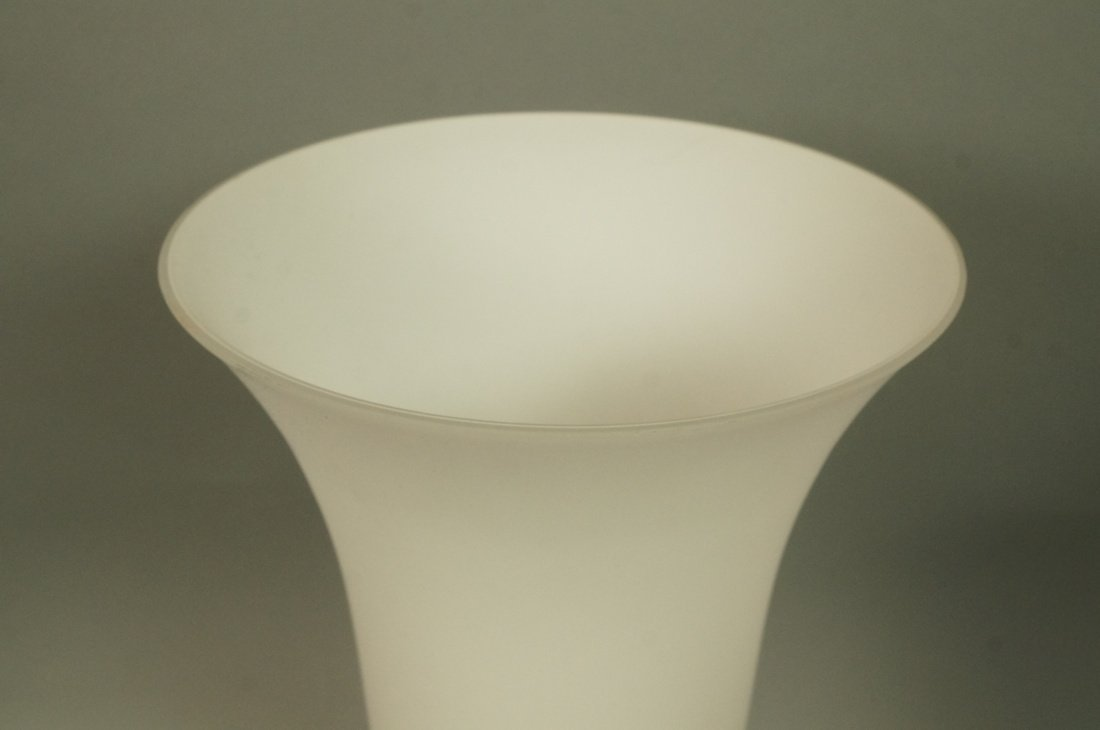 Luminaire frosted glass torch table lamp. Sticker - 2