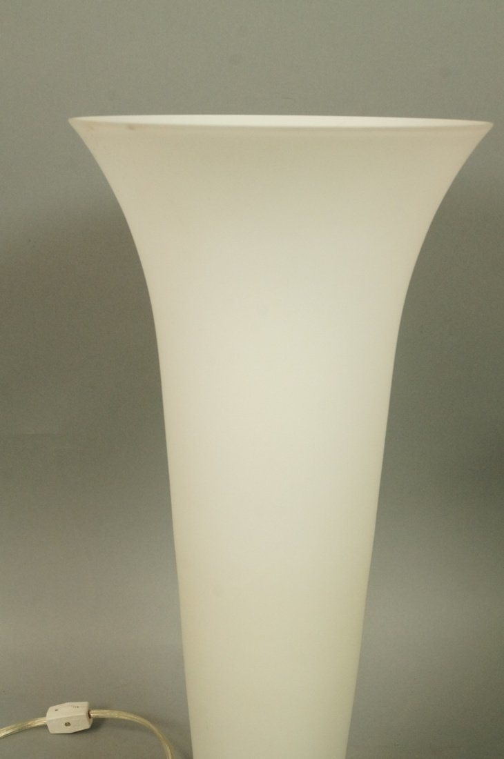 Luminaire frosted glass torch table lamp. Sticker - 3