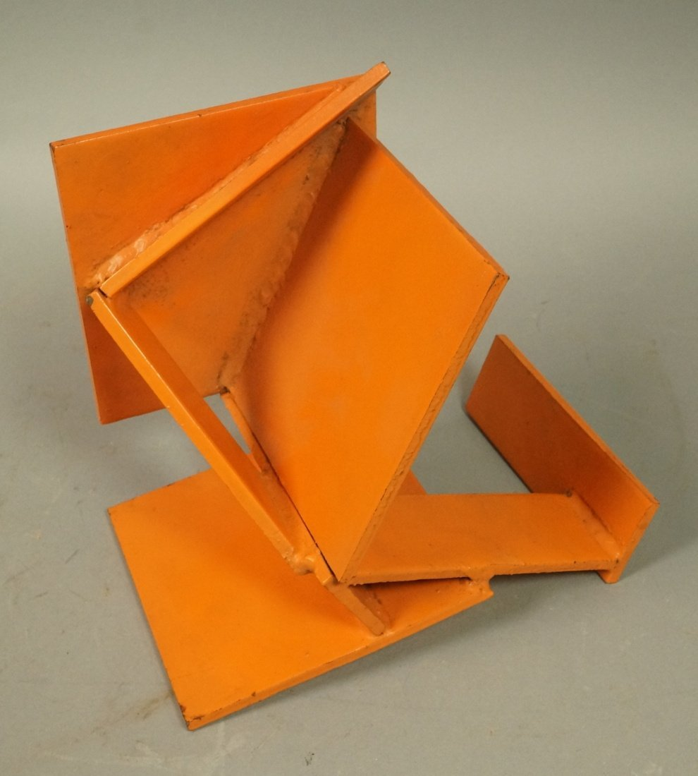 Orange painted JIM TODD Industrial Metal Sculptur