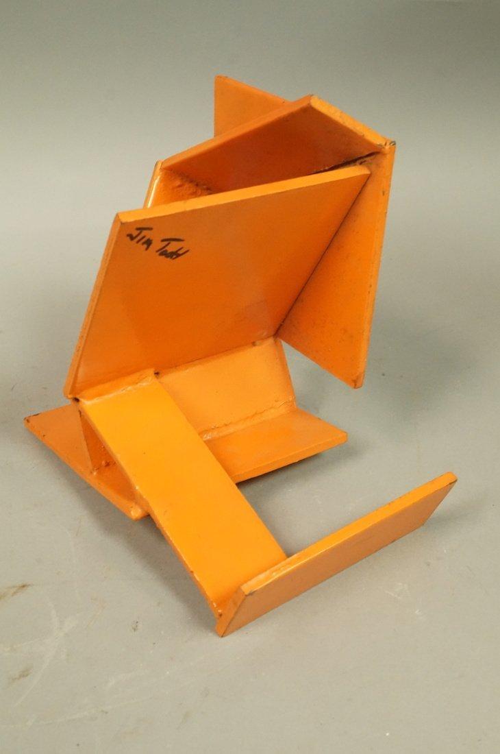 Orange painted JIM TODD Industrial Metal Sculptur - 2