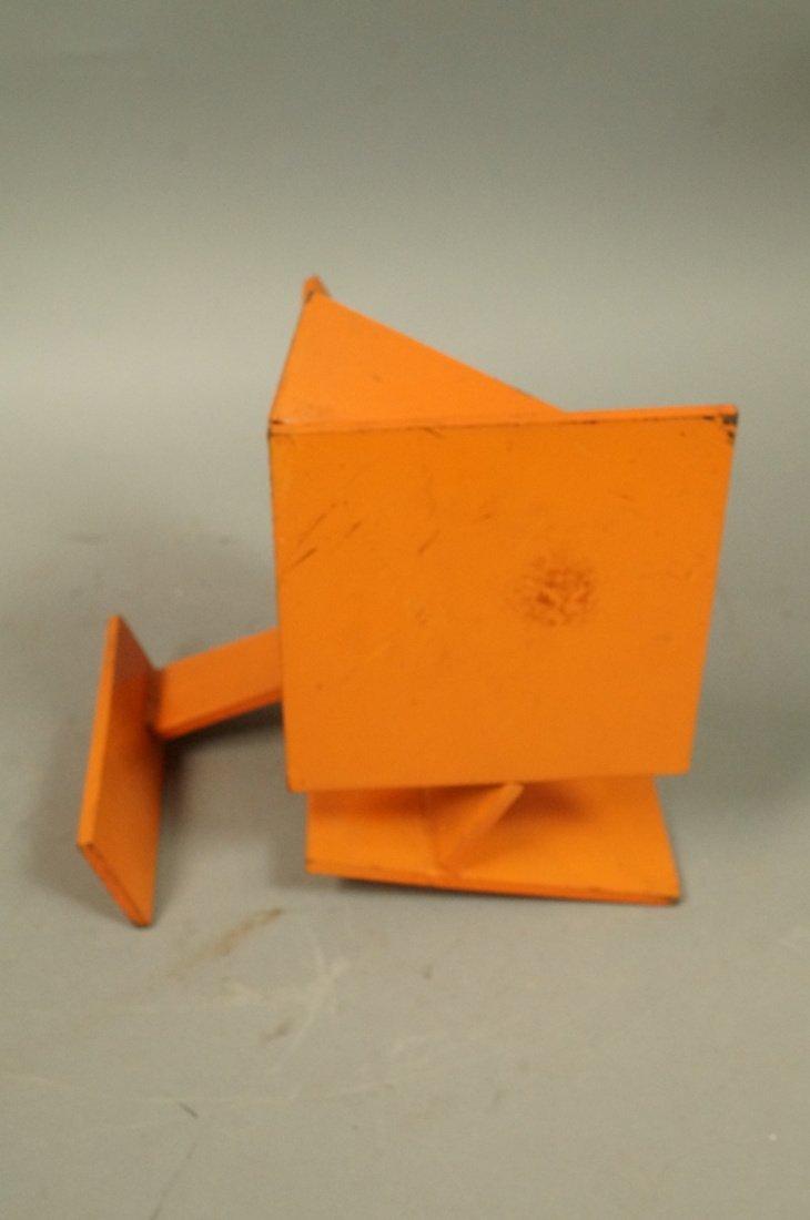 Orange painted JIM TODD Industrial Metal Sculptur - 3