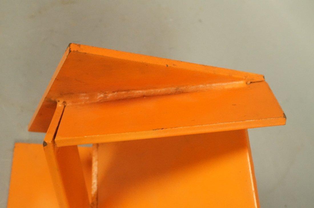 Orange painted JIM TODD Industrial Metal Sculptur - 4