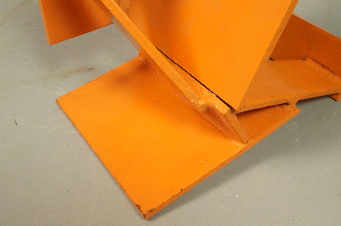 Orange painted JIM TODD Industrial Metal Sculptur - 5