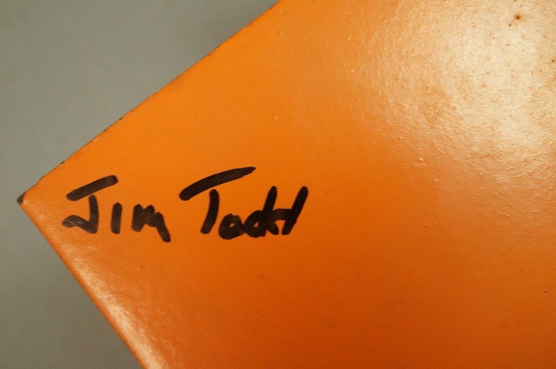 Orange painted JIM TODD Industrial Metal Sculptur - 7