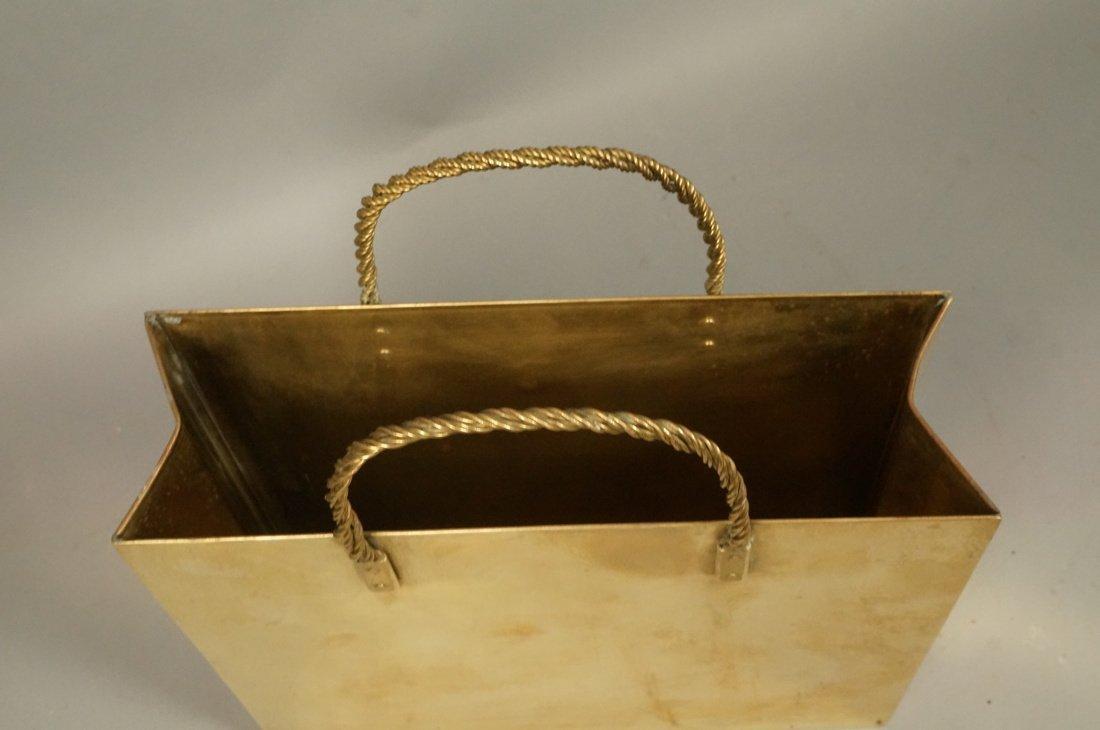 Decorator Brass Bag Magazine Stand. Possibly Ital - 2