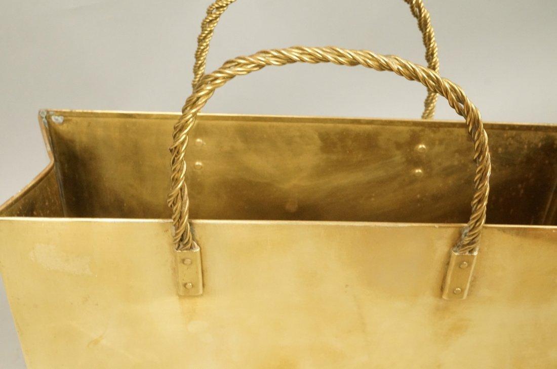 Decorator Brass Bag Magazine Stand. Possibly Ital - 3