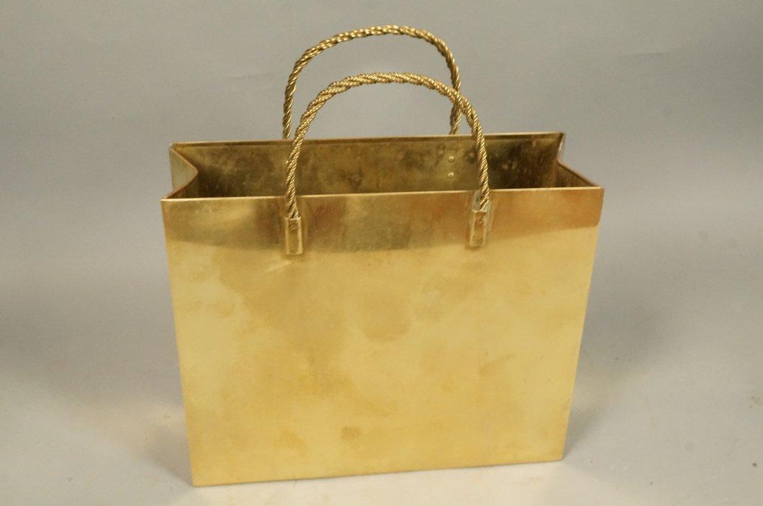 Decorator Brass Bag Magazine Stand. Possibly Ital - 6