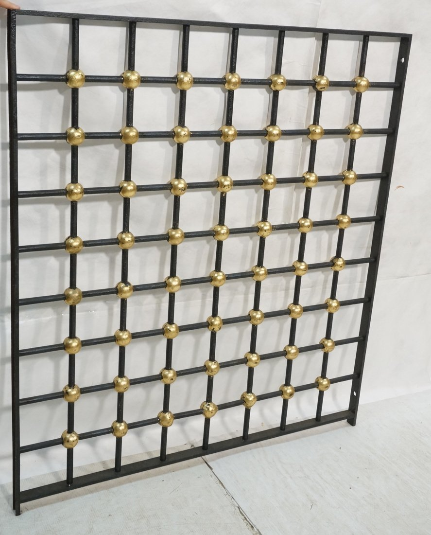 Large Iron Decorative JEAN ROYERE style Grate. Bl
