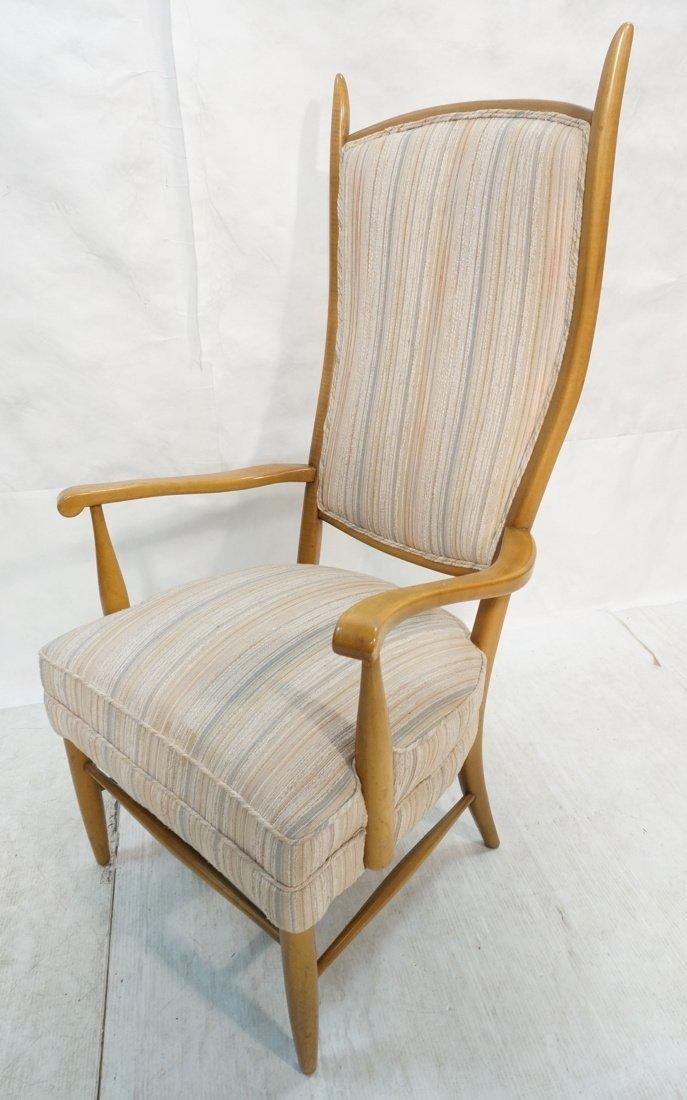 Tall Back Dunbar Style Sabre Frame Arm Chair.  Ta