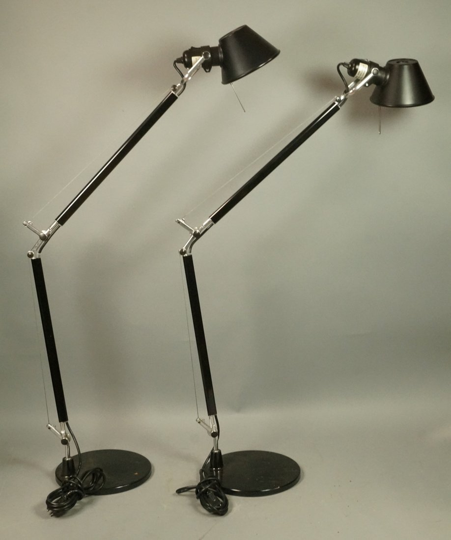 Pr Italian LUMINIARE by ARTEMIDE Black Desk Lamps