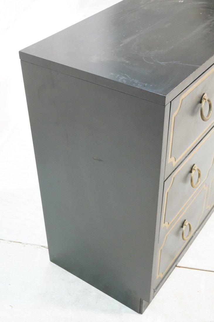 DOROTHY DRAPER style Decorator Black 3 Drawer Cab - 2