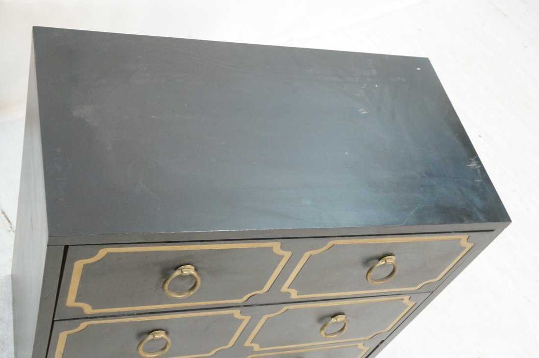 DOROTHY DRAPER style Decorator Black 3 Drawer Cab - 3