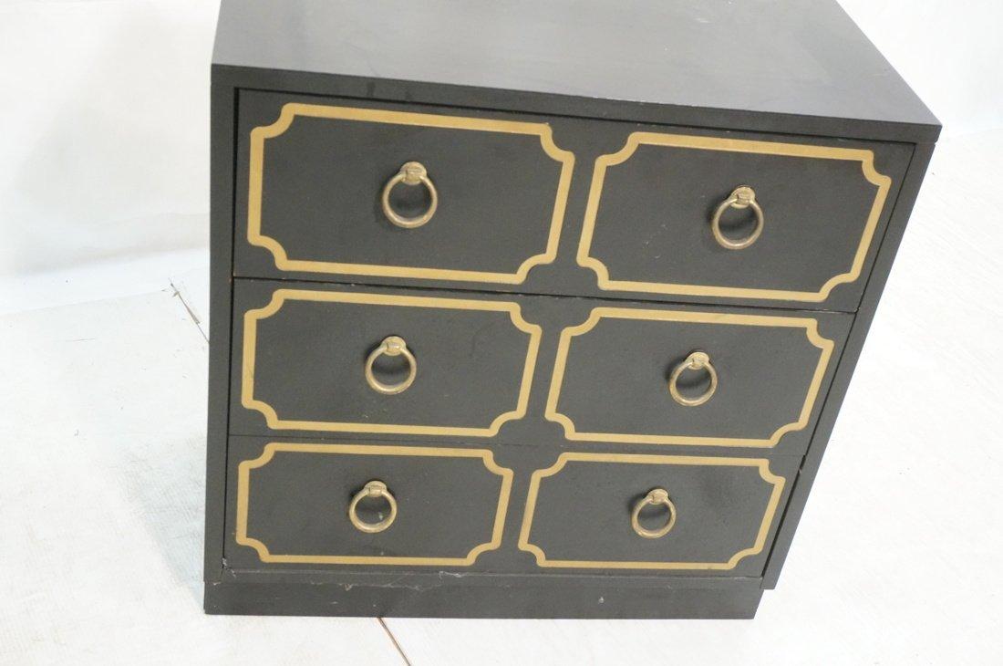 DOROTHY DRAPER style Decorator Black 3 Drawer Cab - 4