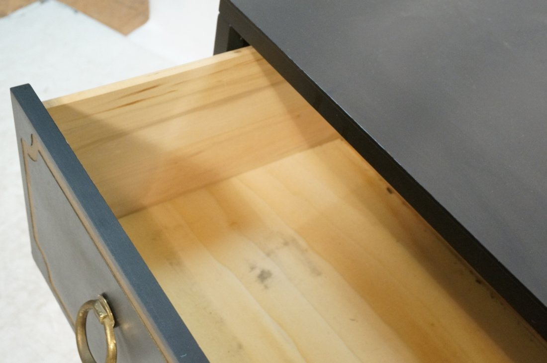 DOROTHY DRAPER style Decorator Black 3 Drawer Cab - 7