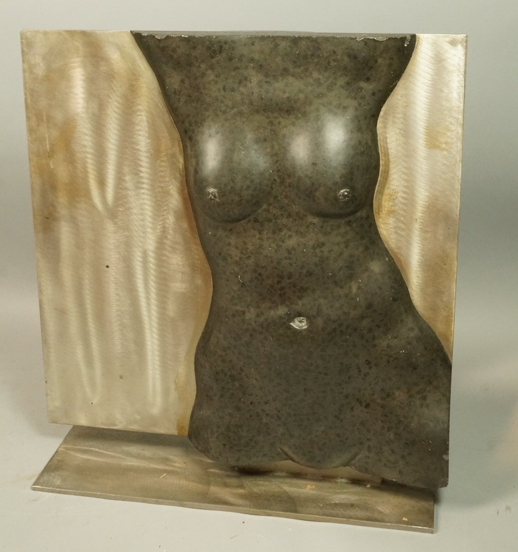 Large Carved Stone Female Nudes Table Sculpture.