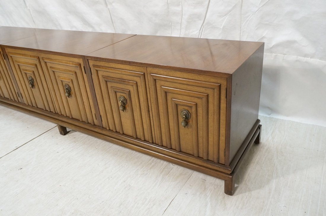 Renzo Rutilli Long Walnut Credenza Sideboard. Thr - 3