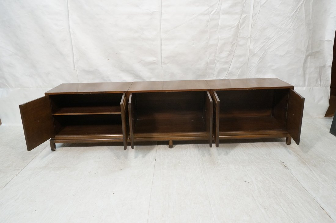 Renzo Rutilli Long Walnut Credenza Sideboard. Thr - 4