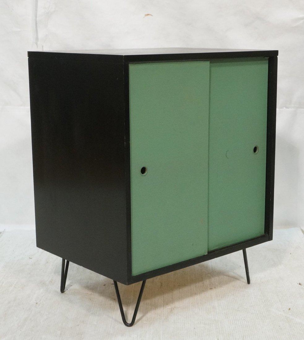 PAUL McCOBB Style Two Sliding Door Ebonized Cabin
