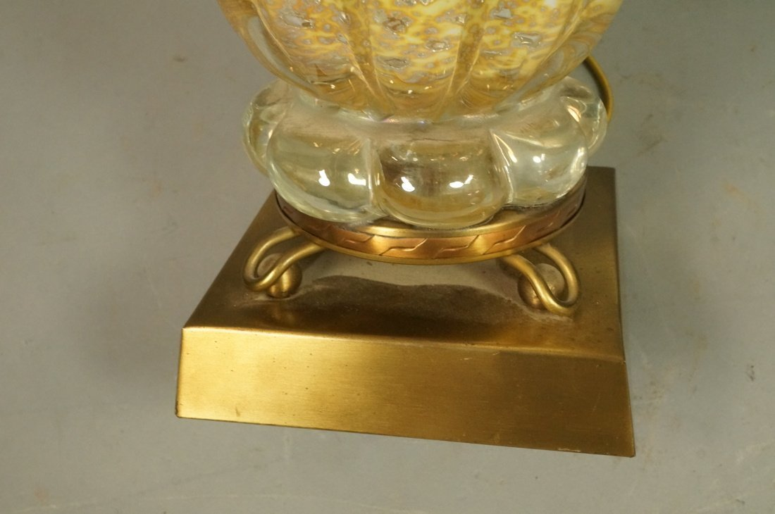 Murano Italian Gold Art Glass Lamp. Interior trap - 7