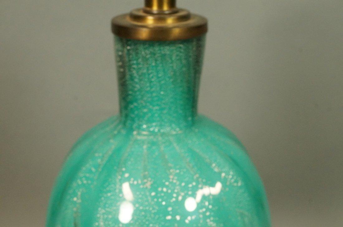 Murano Italian Teal Green Art Glass Lamp. Interio - 4