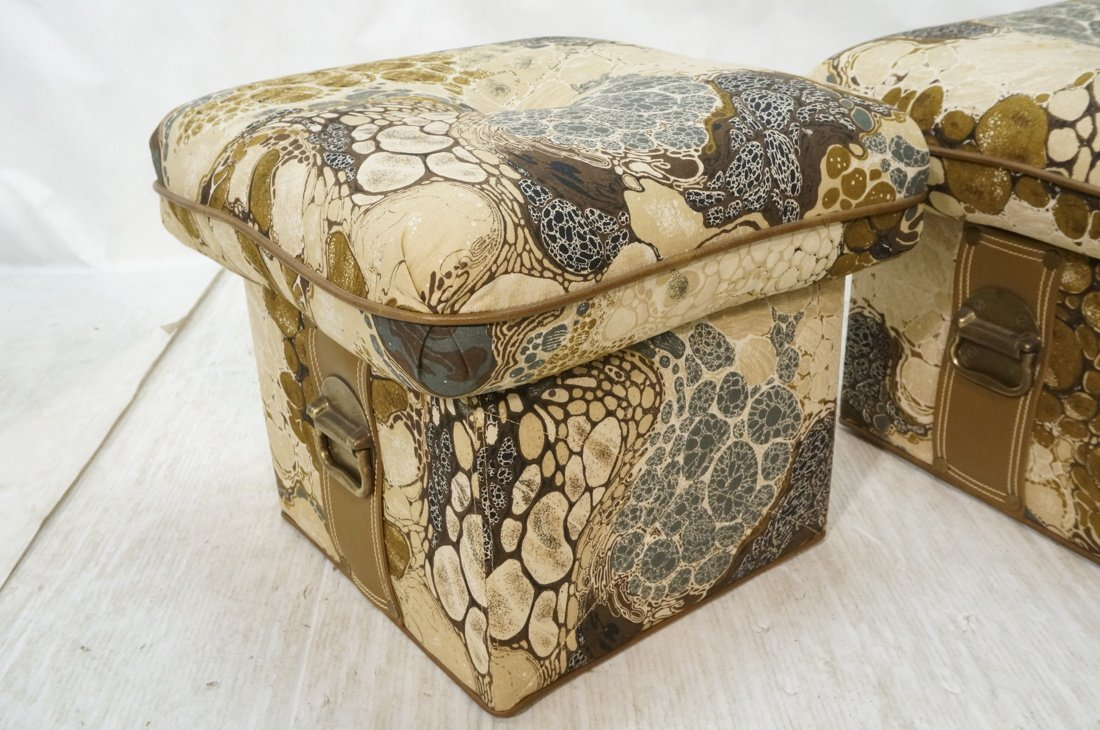 Pr ZACARONI for SCHAFER Cushion Top Stools. Pebbl - 2
