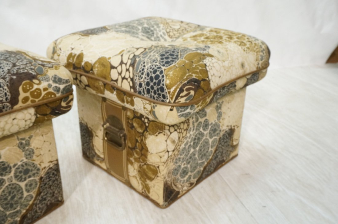 Pr ZACARONI for SCHAFER Cushion Top Stools. Pebbl - 3