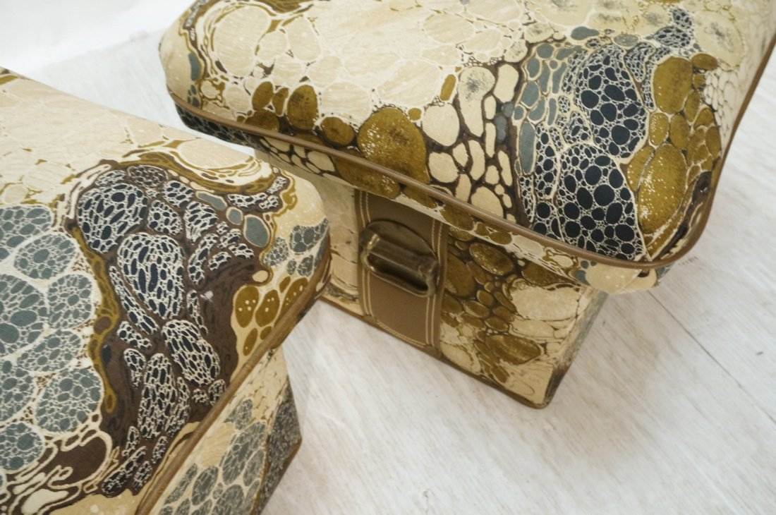 Pr ZACARONI for SCHAFER Cushion Top Stools. Pebbl - 6