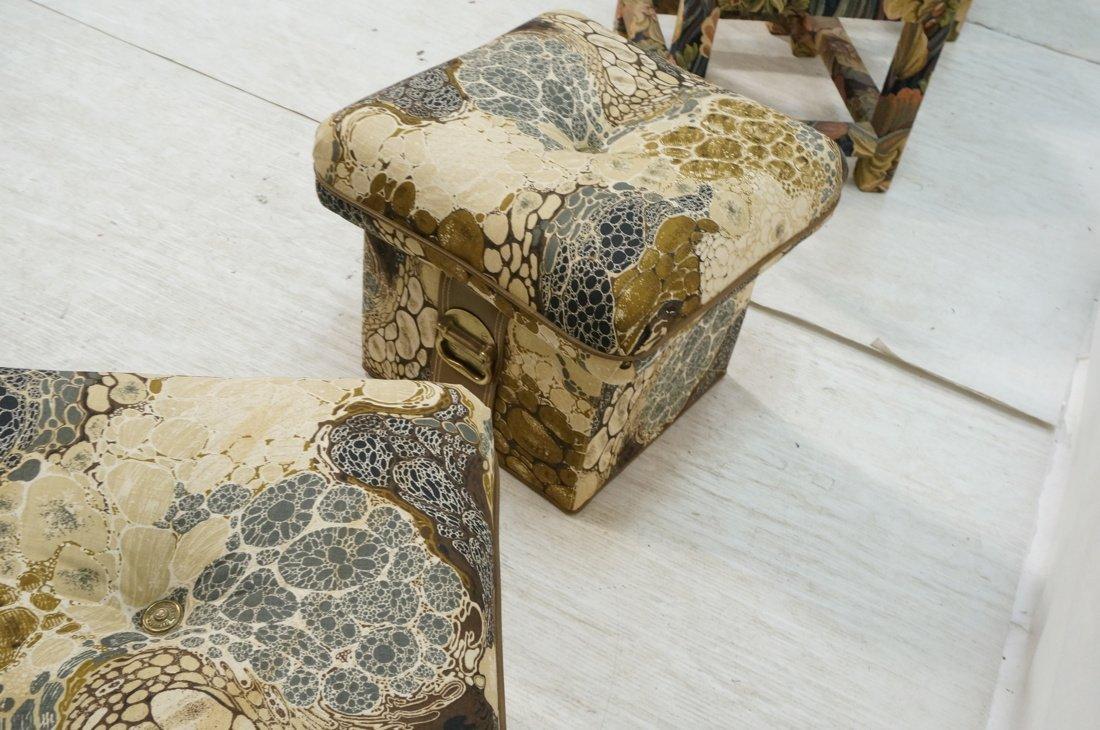 Pr ZACARONI for SCHAFER Cushion Top Stools. Pebbl - 8