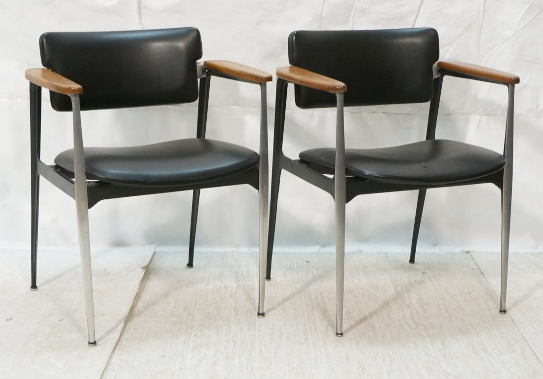 Pr GAZELLE Style Side Arm Chairs. CRUCIBLE Produc