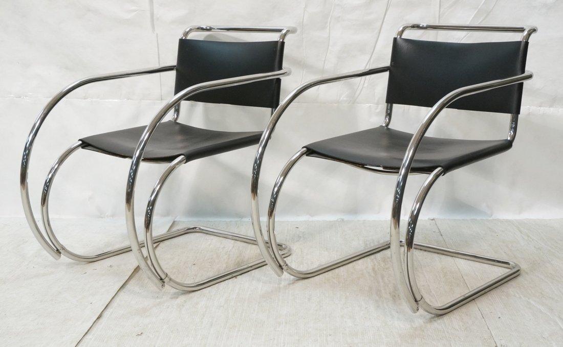 Pr MIES van der ROHE Placentero Lounge Chairs. Tu