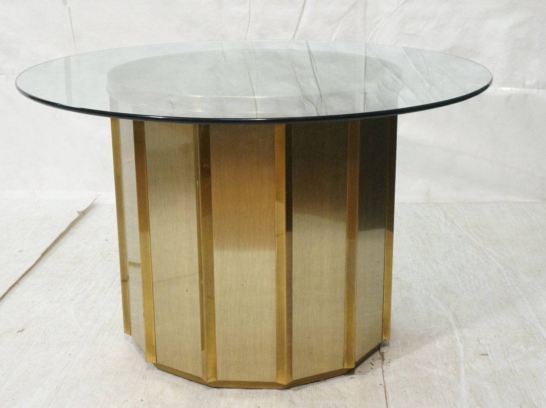 Mastercraft Pedestal Base Table with Thick Glass