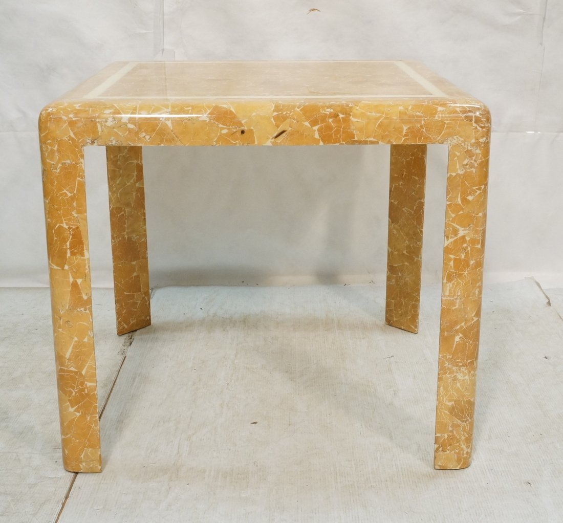 Springer Style Game Dinette Table.  Faux Stone Fi