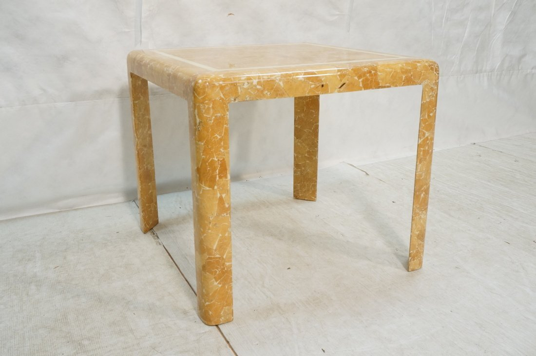 Springer Style Game Dinette Table.  Faux Stone Fi - 2