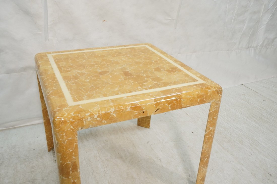 Springer Style Game Dinette Table.  Faux Stone Fi - 3