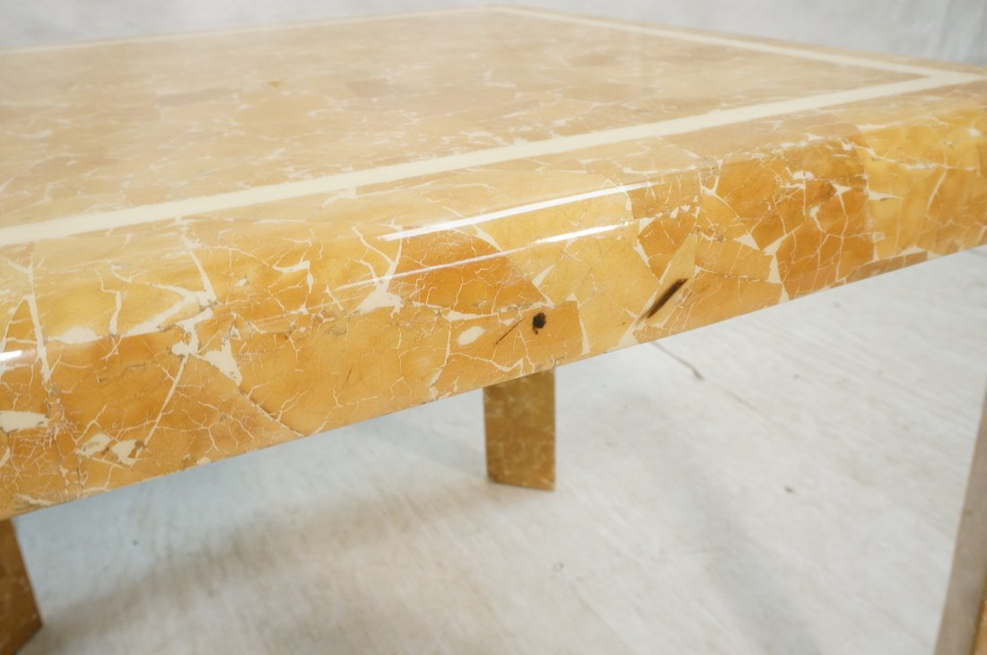 Springer Style Game Dinette Table.  Faux Stone Fi - 4