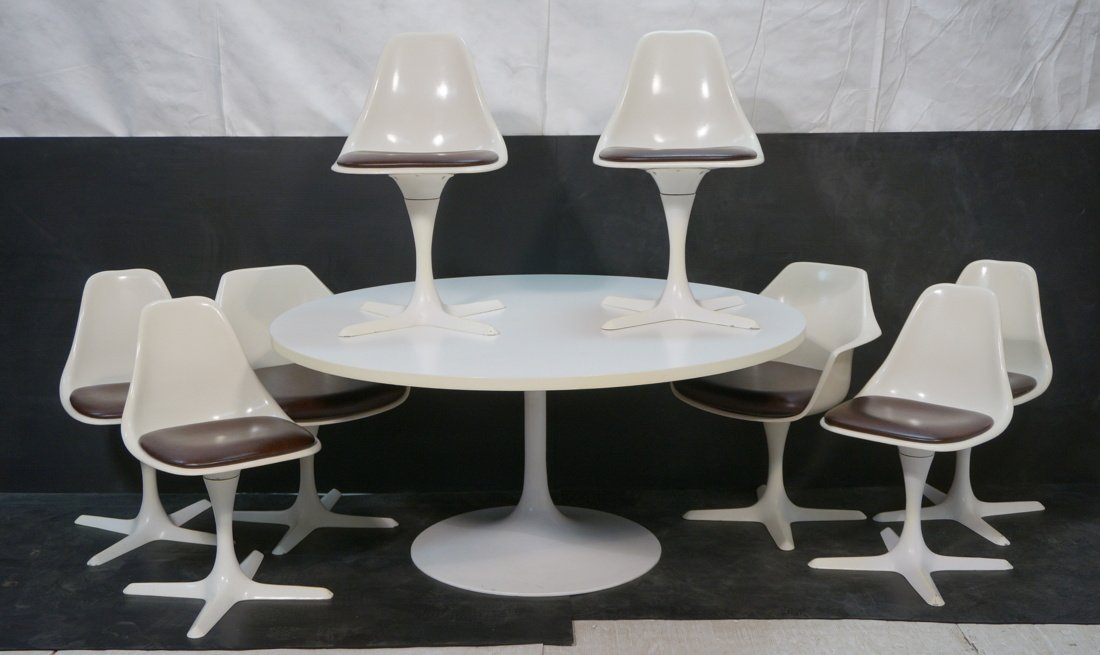 Burke Dining Set with 8 Chairs.  2 Arm and 6 side