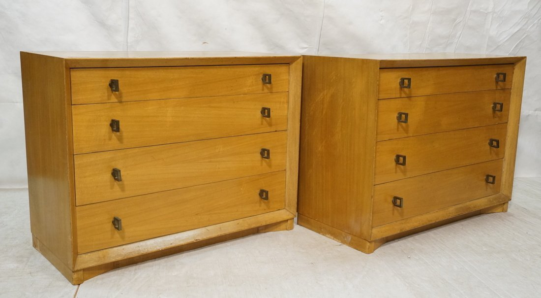 Pr PLYMOUTH Four Drawer Dresser Chests. Great mod