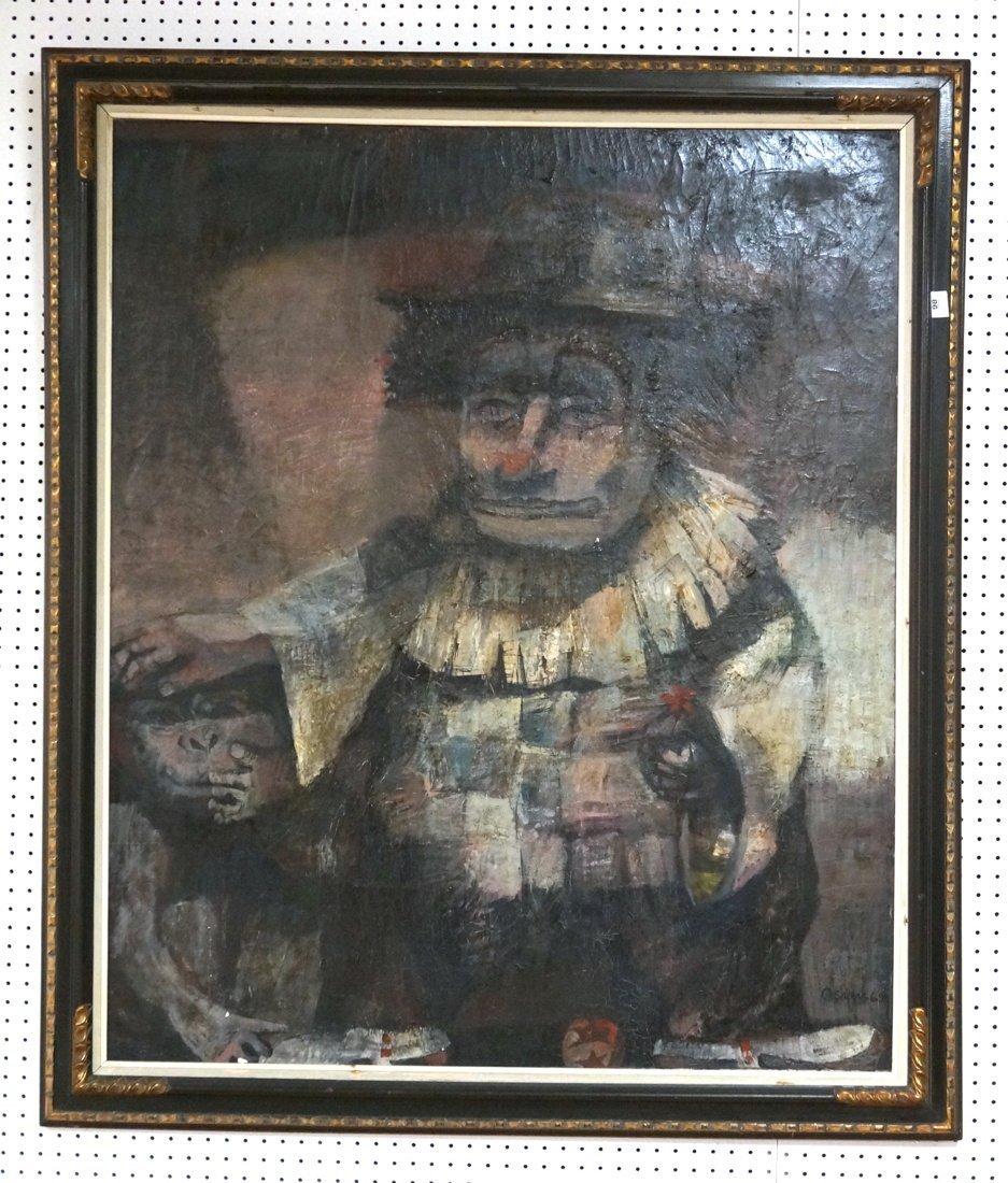 Signed OLSHAM  60 Oil Painting. Portrait of man w
