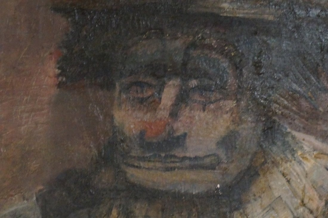 Signed OLSHAM  60 Oil Painting. Portrait of man w - 3