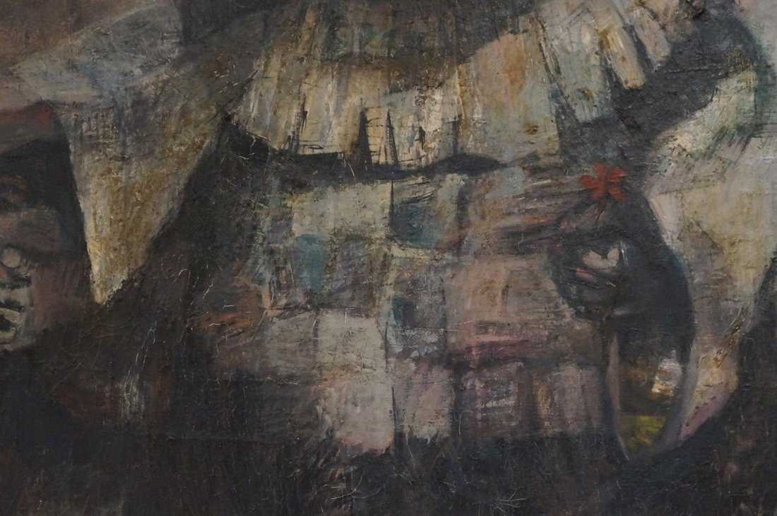 Signed OLSHAM  60 Oil Painting. Portrait of man w - 4