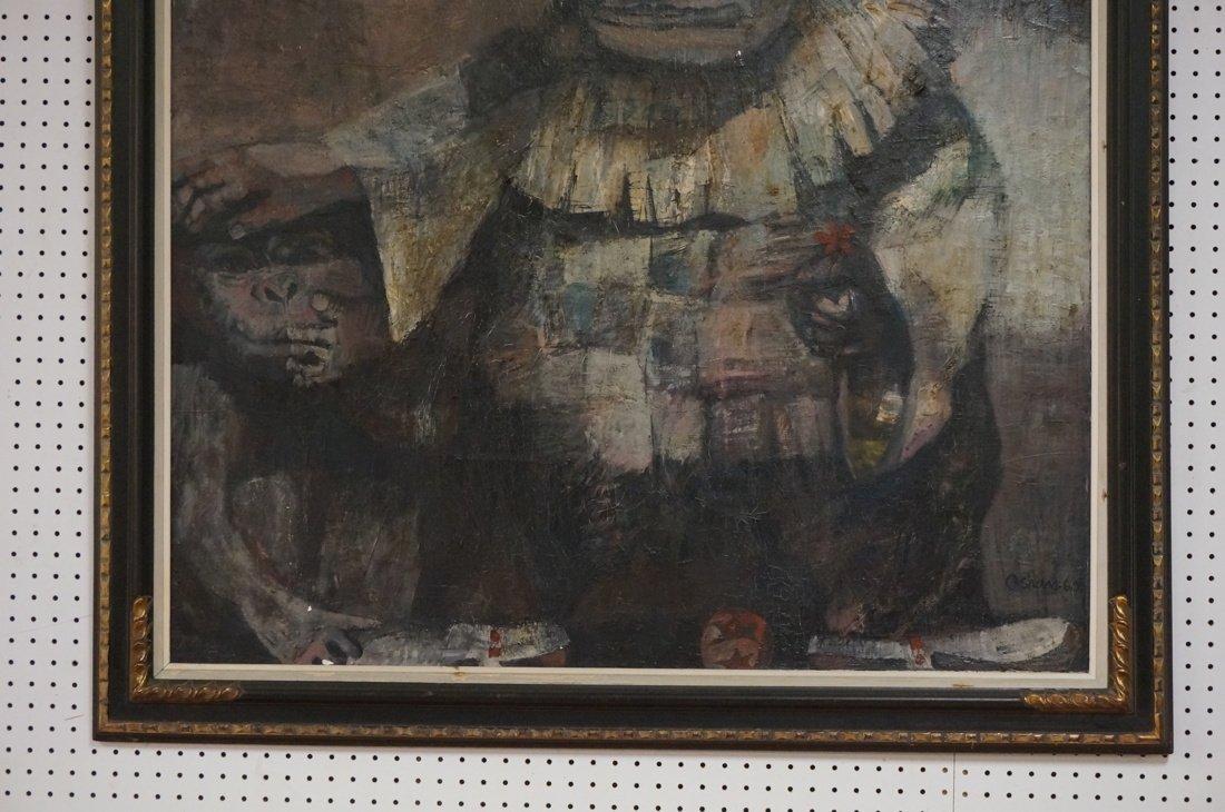 Signed OLSHAM  60 Oil Painting. Portrait of man w - 5
