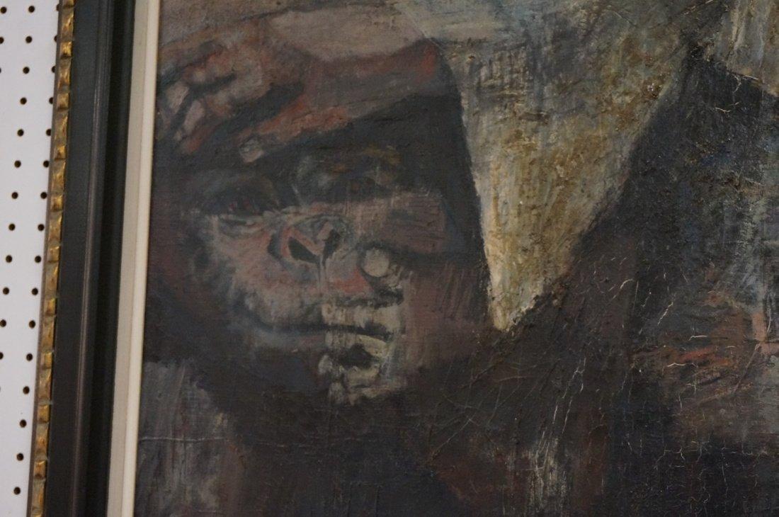 Signed OLSHAM  60 Oil Painting. Portrait of man w - 6
