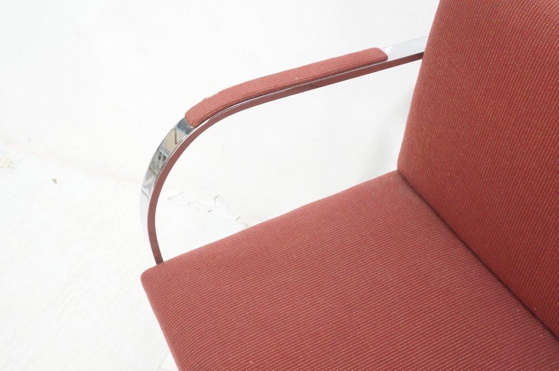 Pr BRNO Chrome Frame Arm Lounge Chairs. Burgundy - 5