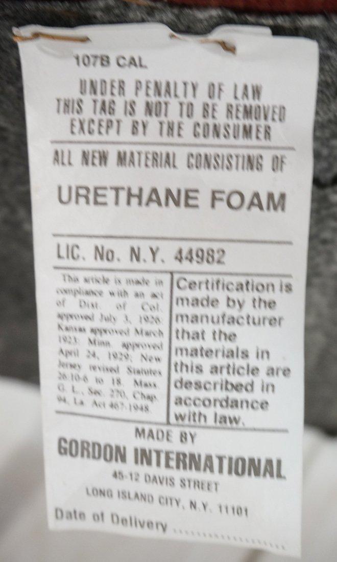 Pr BRNO Chrome Frame Arm Lounge Chairs. Burgundy - 8