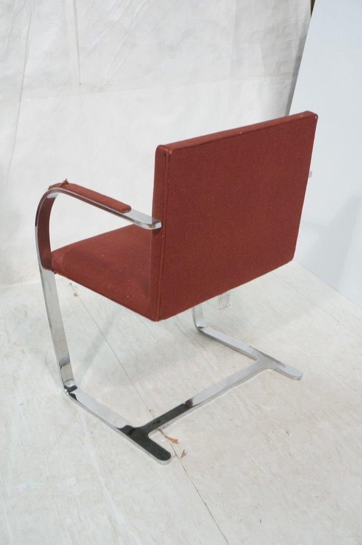 Pr BRNO Chrome Frame Arm Lounge Chairs. Burgundy - 9