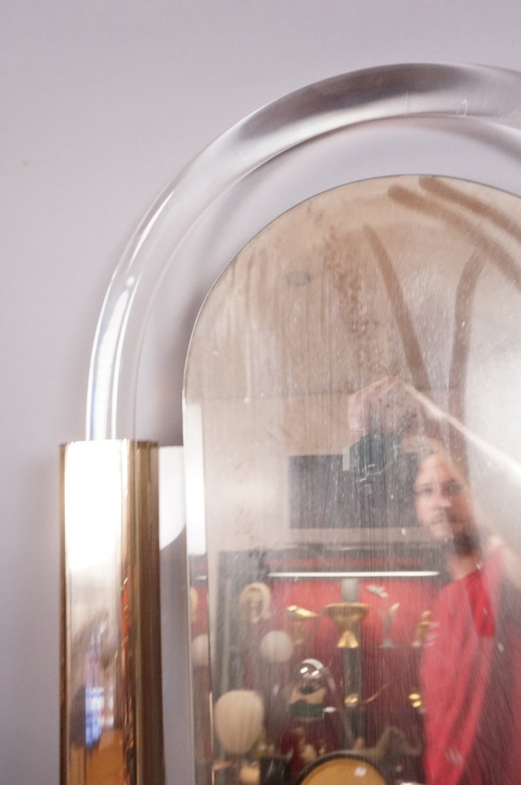 Arched Lucite Hanging Wall Mirror. Molded lucite - 10