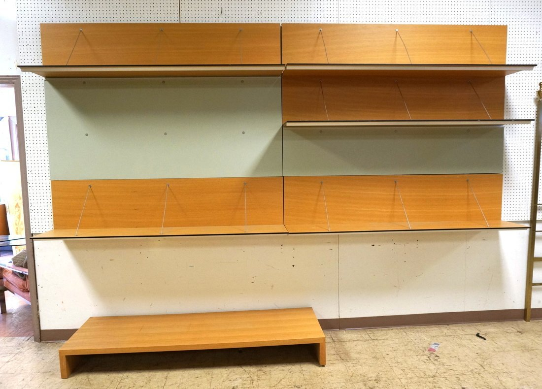 B&B ITALIA Wall Unit. Multi level shelf unit. Met