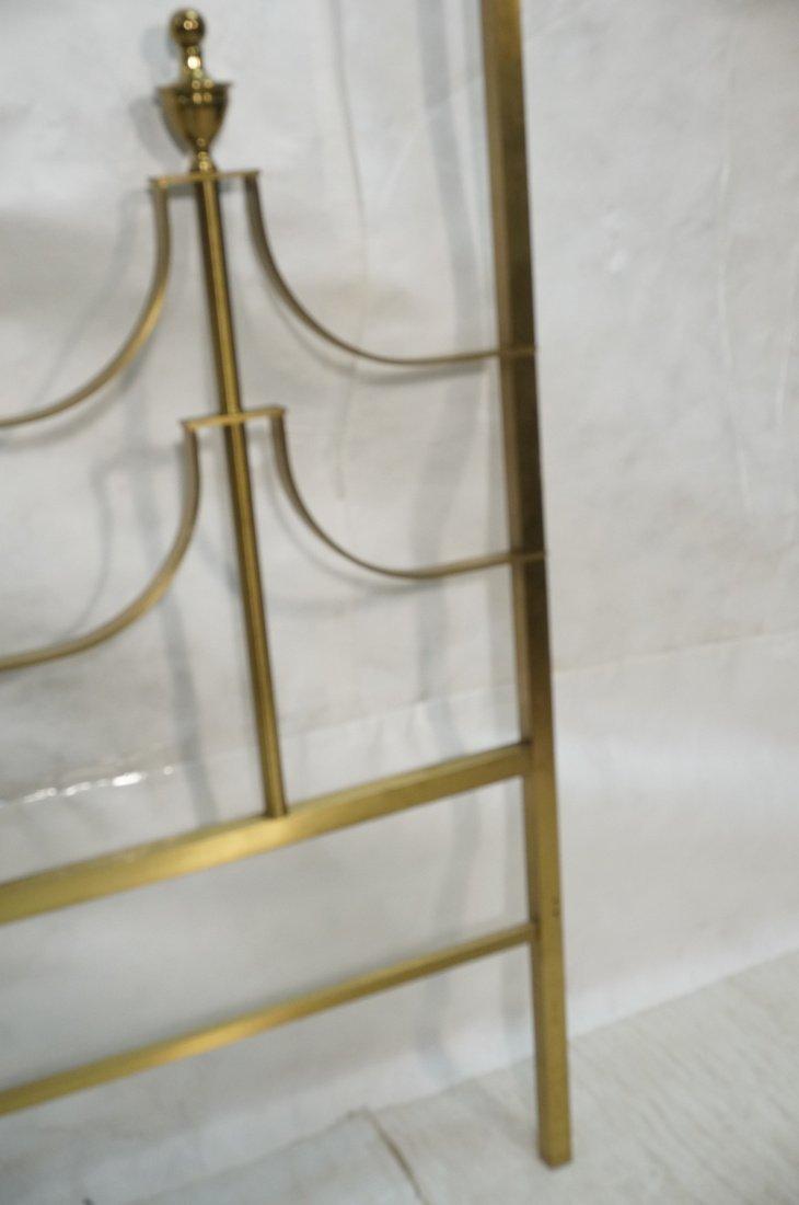 MASTERCRAFT Gold Tone And Brass Poster Headboard. - 6